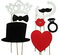 8 pieza boda puntales stand tarjeta de papel fotográfico / diversión del partido a favor