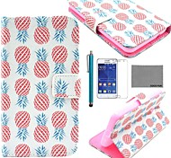 coco fun® modello di fiore pu custodia in pelle con la protezione dello schermo e lo stilo per Samsung Galaxy Core 2 g355h