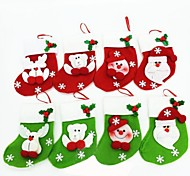 15CMChristmas Socks for Christmas Party Decoration 6pcs(Random Colour)