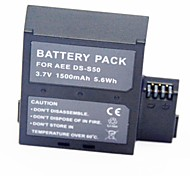 1500mAh 3.7V Video Recorder Battery DS-D50 for AEE S51 S50