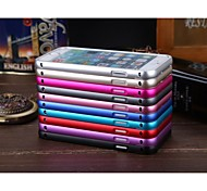 Luphie Ultrathin Push and Pull Slide Aluminium Metal Bumper Case for iPhone 6 (Assorted Color)