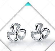 Lucky Clover 925 Sterling Silver Earrings