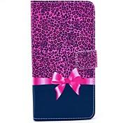 Para Samsung Galaxy Note Soporte de Coche / con Soporte / Flip / Diseños Funda Cuerpo Entero Funda Estampado Leopardo Cuero Sintético