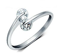 Women's Heart Together Open Ring
