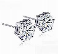 Six Claw Stud Earrings Jewelry,in 925 Sterling Silver Earrings Jewelry,Cubic Zirconia Earrings,Women's Earrings Jewelry