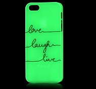 Verse Pattern Glow in the Dark Hard Case for iPhone 4/4S