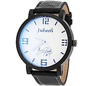 Orologi caso semplice nero cinturino in pelle orologio da polso da uomo (colori assortiti)