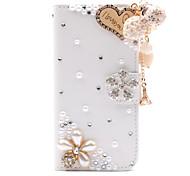 Brieftasche Stil Diamant-Anhänger Flip Litschi pu Ledertasche mit Ständer für Samsung Galaxy S4 SIV Mini i9190