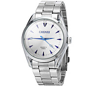 Men's Business Style Silver Steel Band Quartz Wrist Watch (Assorted Colors) Cool Watch Unique Watch