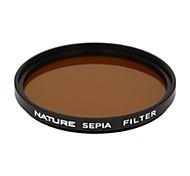 natureza 86 milímetros filtro pancromática marrom