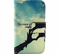 Love Pattern PU Leather Full Body Case with Stand  for Samsung S3 Mini I8190
