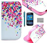 coco fun® puntini colorati modello pu custodia in pelle con la protezione dello schermo e lo stilo per Samsung Galaxy Lite tendenza 7390/7392