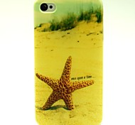 motif étoile de mer plage TPU étui flexible pour iPhone 4 / 4S