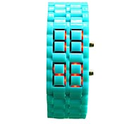 Unisex Fashion Watch Lava Chain Silicone Strap Color  LED Display  Wrist Watch(Assorted Colors)