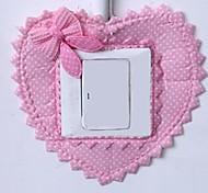 Viscosity Heart Shape Textile Materials Switch Sticker(Random Color)(Internal 8.4*8.4cm)