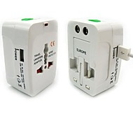 Travel Universal Global Converted Plug Adapter Socket Converter with USB Interface (US, EU, UK)