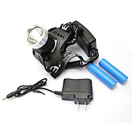Outdoor Sports LED XM-L T6 1800 Lm Headlight Torch Lamp Flashlight with Charger