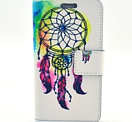 White Big Bells Pattern PU Leather with Case and Card Slot for Galaxy S5 Mini
