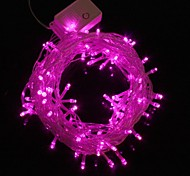 10M 9.6W Christmas Flash 100-LED Pink Light Strip Light Lamp (EU Plug , AC 220V)