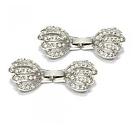 21*19mm Fashion Silver Alloy Rhinestone Palm Design Detachable DIY Accessories Clasp