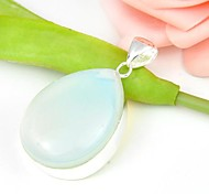 Newest Drop Multi-Color Moonstone Gemstone Silver Pendant 1pc