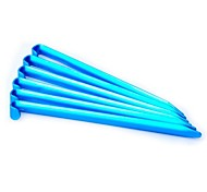 Aluminum Alloy U Shaped Pegs for Outdoor Camping Tent Accessories180mm Blue (6 Pieces Pack)