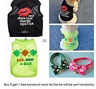 acquistare 2 camicie ottenere 1 gratis pet cravatta. gruppo di vendita per cani da compagnia (formati assortiti)