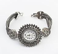 Women's European Style Fashion Sunflower Bracelet Watch