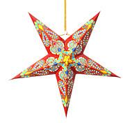 1pcs nochi 45 centímetros de cor Nepal ornamentos do teto estrela abajur (cores sortidas)