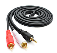 3m de áudio 3,5 mm para 9,84 pé 2 * rca m cabo / m audio