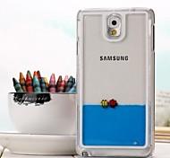 kostenlos Fisch mit Wasser Stil transparent PC-Gehäuse für Samsung Galaxy Hinweis 3 (verschiedene Farben)