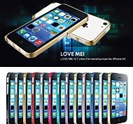 Love Mei Ultrathin Alloy Bumper Curved Edge Metal Case Cover for iPhone 5C(Assorted Colors)