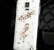 Cute Dancers Transparent PC Hard Case for Samsung Galaxy Note 4