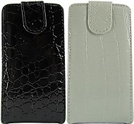 Crocodile Solid Color Pattern Open Up and Down PU Leather Full Body Case for Samsung Galaxy SII I9100 (Assorted Color)