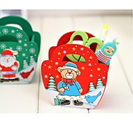 Christmas Wooden Pen Container Christmas Gift(Random)(1 pc)