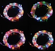 10M 9.6W 100-LED Seven Color Light Christmas Flash Strip Light Lamp  (DC 12V,Copper Line)