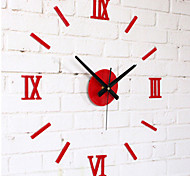 DIY Fashion Wall Combination of Roman Numeral Clock White/Black/Red Fun Wall Clock