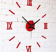 DIY Fashion Wall Combination of Roman Numeral Clock White/Black/Red Fun Wall Clock
