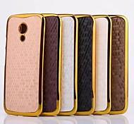 Snakeskin Grain Pattern Plastic Cover for Motorola for Moto G2(Assorted Colors)