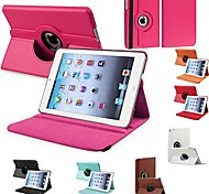 DF® Durable Flip-open PU Leather Full Body Case with 360 Degree Rotation Stand for iPad Mini (Assorted Colors)