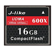 J-Like 16GB 600X CompactFlashMax Read Speed90 (MB/S)Max Write Speed45 (MB/S)