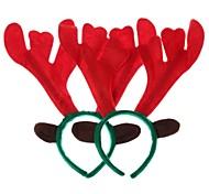 aro de navidad decoraciones alce la cabeza (poligonal) (2 piezas)