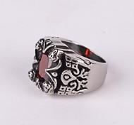 z&x® estilo gothick punky titanio vendimia anillo declaración de los hombres de acero (2 opciones de colores: rojo, negro)