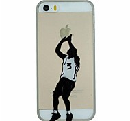 Basketball Series of Shooting Pattern PC Hard Transparent Back Cover Case for iPhone 5/5S