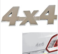 4 X 4 Style 3D Chromium Alloy Car Body Decoration Sticker