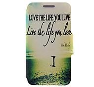 kinston liebe das Leben, das Sie leben Muster PU-Leder Ganzkörper-Case mit Ständer für Nokia Lumia 820