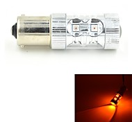 JMT-403 1156-BAU15S 60W 650lm 12LED Yellow Car Steering / Backup / Brake Light - (DC 10~24V)