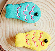 All Seasons Cotton Hair Accessories for Dogs / Cats Blue / Yellow