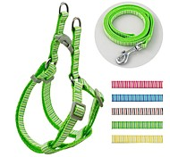 Vertical Lines  Pattern Nylon Harness and Leashes Set for Dogs and Pets (assorted colours)