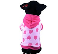 Dog Coat / Hoodie Red / Blue Winter Stars / Hearts Keep Warm